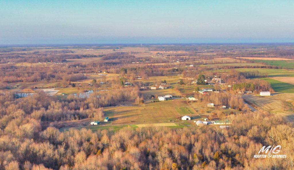aerial photo orchardville illinois